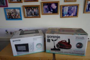 Poděkování firmě Gorenje za věcné dary